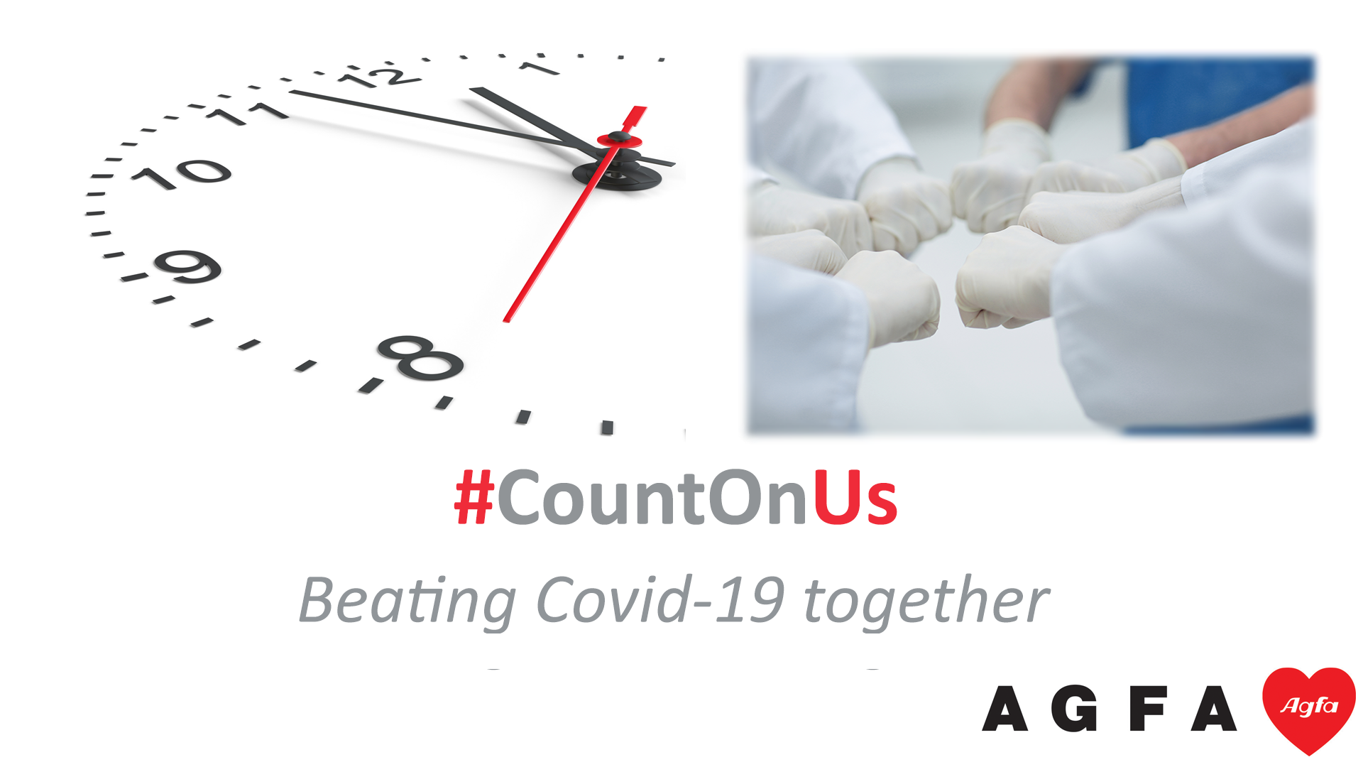CountOnUS, Beating Covid-19 together, Agfa